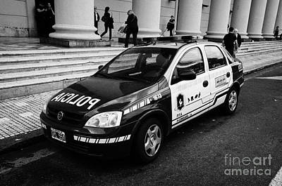 policia federal argentina federal police patrol vehicle Buenos Aires Argentina Art Print by Joe Fox