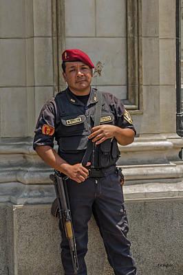 Photograph - Policia Nacional by Allen Sheffield