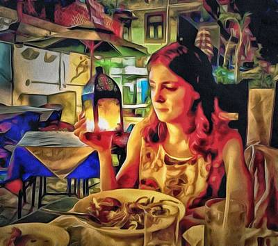 Digital Art - Polina At Lamma Island by Yury Malkov
