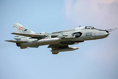 Sukhoi Photograph - Polish Air Force Su-22 Fighter-bomber by Timm Ziegenthaler