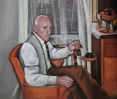 Art Print featuring the painting Polish Grandfather by Melinda Saminski