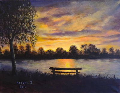 Painting - Polish Sunset by Bozena Zajaczkowska