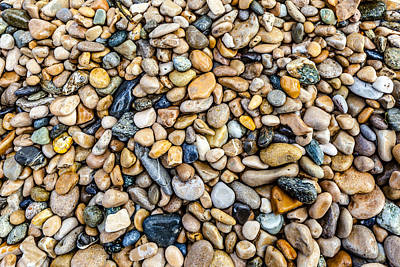 Photograph - Polished Stones In A Stream by Charles Lupica