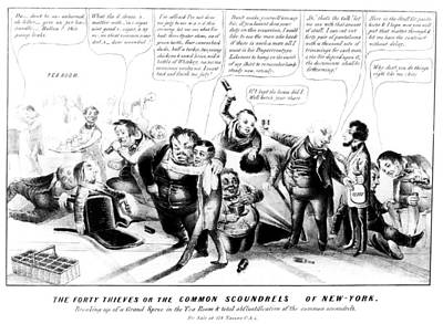 Tammany Painting - Political Corruption, 1840 by Granger
