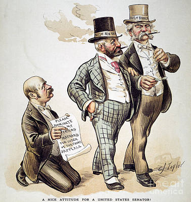 Drawing - Political Corruption 1893 by Granger