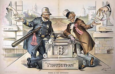 Political Corruption, 1894 Art Print by Granger