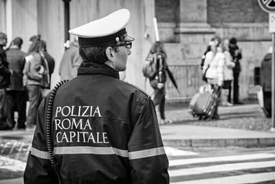 Polizia Roma Capitale Art Print by Pablo Lopez