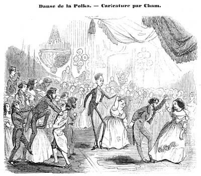 Dance Floor Painting - Polka, 1844 by Granger
