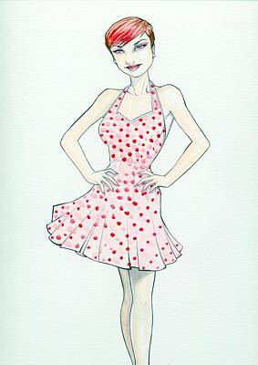Polka Dot Pink Art Print