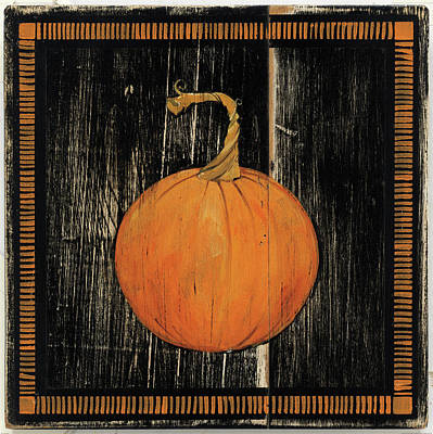 Painting - Polka Dot Pumpkin I by Wild Apple Portfolio
