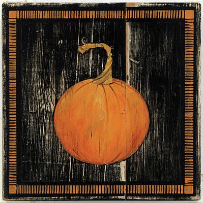 Halloween Painting - Polka Dot Pumpkin I by Wild Apple Portfolio