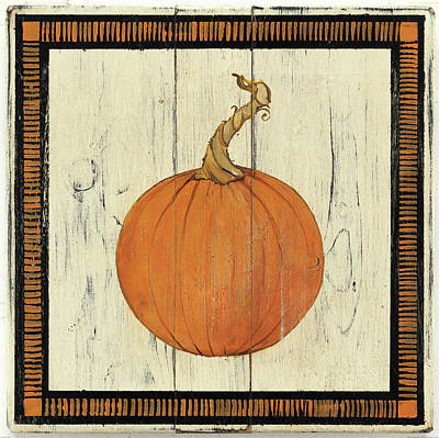 Faa Painting - Polka Dot Pumpkin II by Wild Apple Portfolio