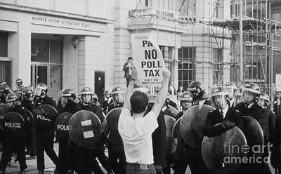 Photograph - Poll Tax Riots London by David Fowler