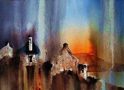 Painting - Pollagh Sunset by Val Byrne