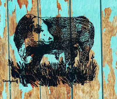 Polled Hereford Bull 23 Art Print