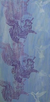 Printmaking Mixed Media - Pollination by Rachel Hoffman