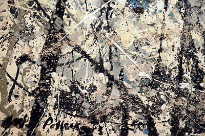 Jackson Pollock Photograph - Pollock's Name On Lavendar Mist by Cora Wandel