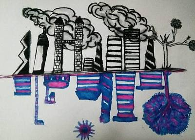 Impact Drawing - Pollution by Ramisha Chowdhury