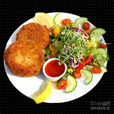 Photograph - Polpeor Cafe Crab Cake Salad by Terri Waters