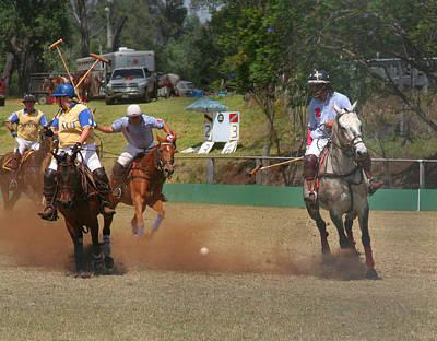 Photograph - Polo Action by John Orsbun