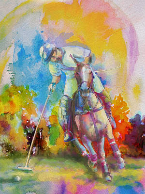 Canadian Sports Painting - Polo Art by Catf