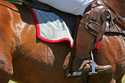 Photograph - Polo Boots And Pony by John Orsbun