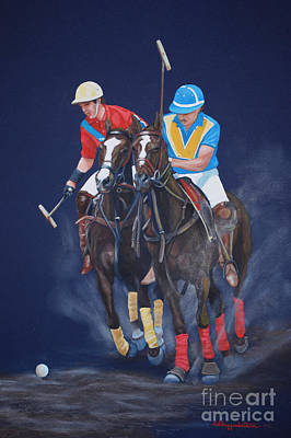 Polo Pony Painting - Polo  by DiDi Higginbotham