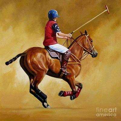 Polo Pony Painting - Polo by Janet  Crawford