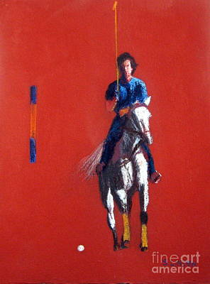 Polo Player Art Print by Sandy Linden