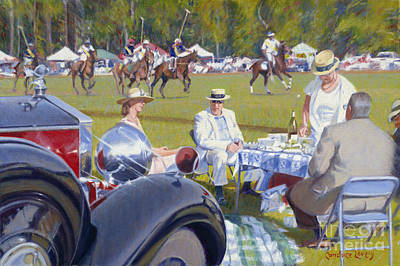 Bluffton Painting - Polo Rolls by Candace Lovely