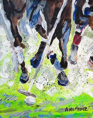 Polo Pony Painting - Polo Rumble by Alan Metzger