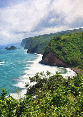 Pololu Valley Beach Art Print
