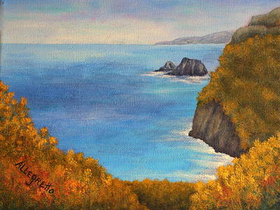 North Sea Painting - Pololu Valley Lookout by Pamela Allegretto