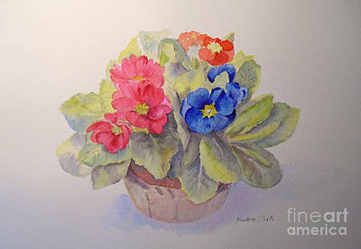 Painting - Polyanthus by Beatrice Cloake