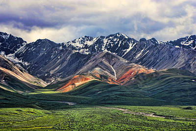 Alaska Mountains Photograph - Polychrome by Heather Applegate