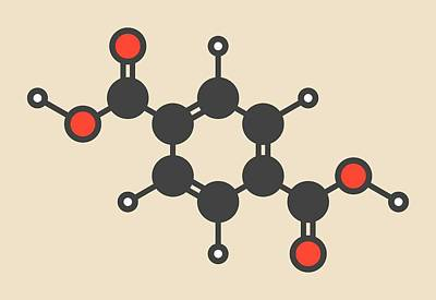 Polyester Building Block Molecule Art Print