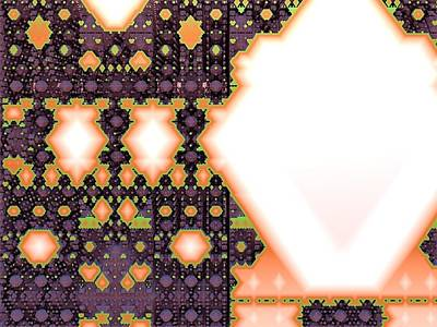 Tapestries - Textiles Digital Art - Polygonomical Tapestry by M Rao