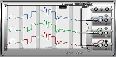 Digital Art - Polygraphs - Citypulse - Los Angeles Skyline  by Serge Averbukh