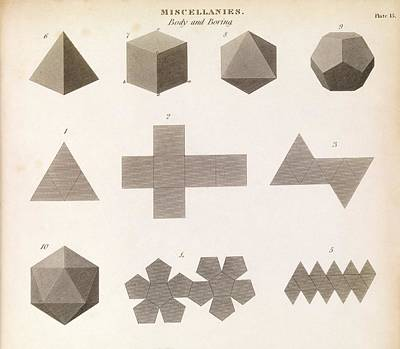1845 Photograph - Polyhedron Geometry by Middle Temple Library