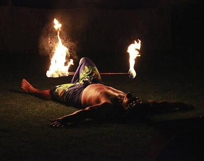 Polynesian Fire Dancer Art Print by Penny Meyers