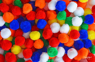 Photograph - Pom Poms by Shanna Hyatt
