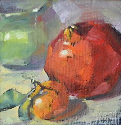 Tangerine Painting - Pomegranate by Barbara Daggett