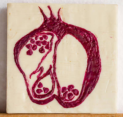 Mixed Media - Pomegranate by Carmen Williams