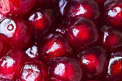 Pomegranate Closeup Print by Alexander Senin