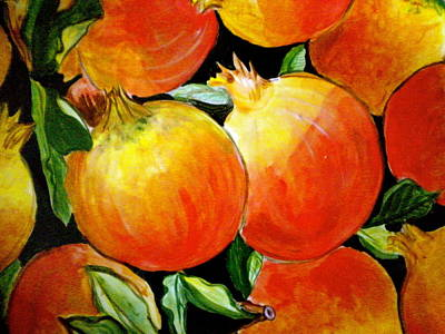 Negative Space Painting - Pomegranate by Debi Starr