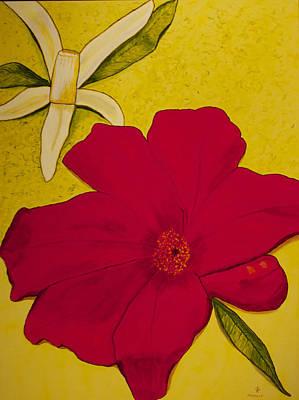 Pomegranate Lemon Original by Phoenix The Moody Artist