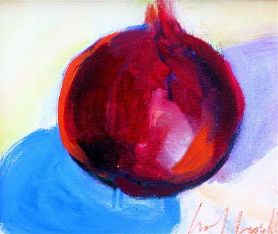 Painting - Pomegranate by Les Leffingwell