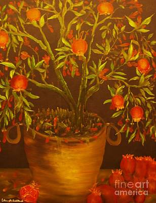 Pomegranate Tree Of Love-original Sold- Buy Giclee Print Nr 28 Of Limited Edition Of 40 Prints   Art Print