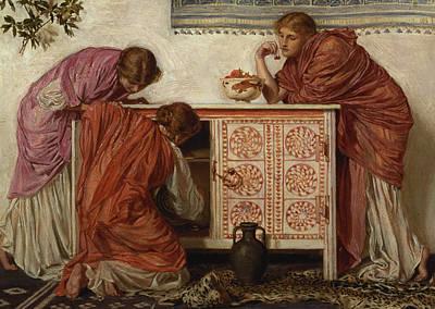 Pomegranates, 1866 Oil On Canvas Print by Albert Joseph Moore