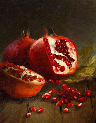 Cooks Illustrated Painting - Pomegranates 2014 by Robert Papp